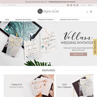 Stylish but Affordable Wedding Invitations - StylishWedd