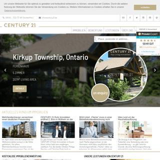 Kostenfreie Immobilien-Einwertung - Immobilienmakler - CENTURY 21 Immobilien