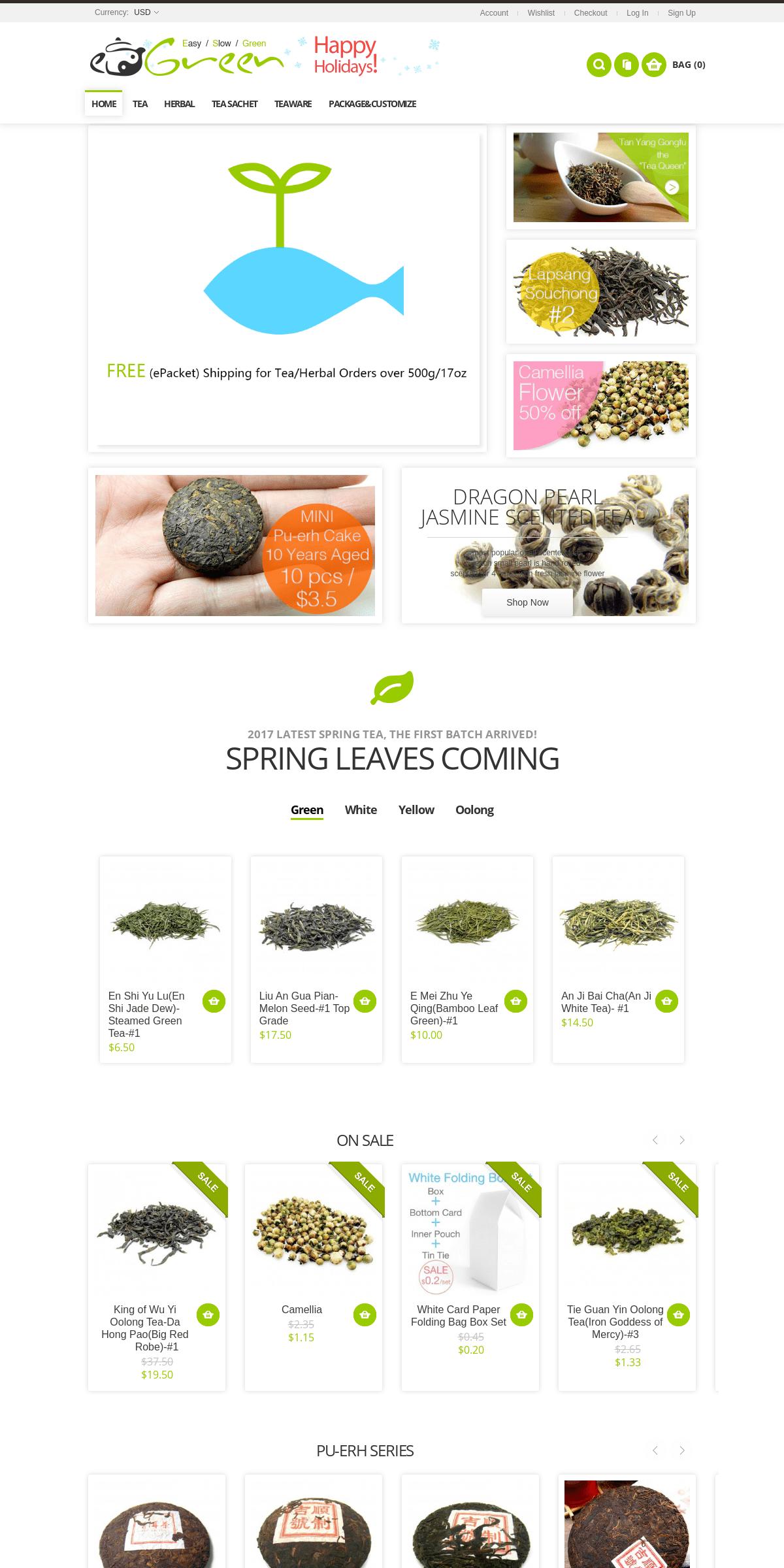 Loose Leaf Chinese Tea, Herbs and Elegant Tea-wares - ESGREEN ESGREEN-Enjoy - Slow - Green