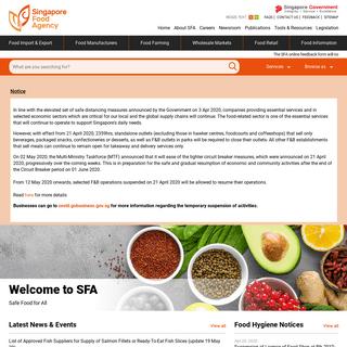 Home - Singapore Goverment Singapore Food Agency
