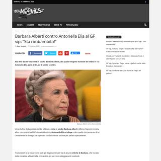 Barbara Alberti contro Antonella Elia al GF vip- -Sta rimbambita!-