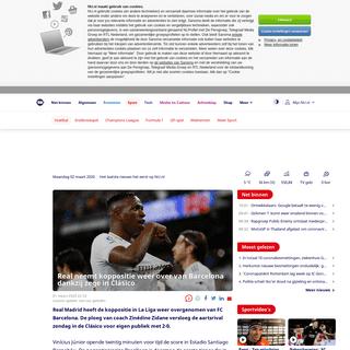 Real neemt koppositie weer over van Barcelona dankzij zege in Clásico - NU - Het laatste nieuws het eerst op NU.nl