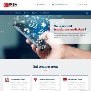 IMBA Consulting - SOCIÉTÉ DE SERVICES EN INGÉNIERIE INFORMATIQUE SSII PARIS FRANCE