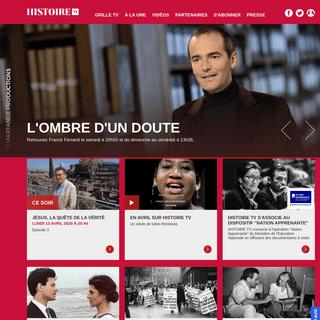 Histoire site officiel de la chaîne. Programmes et vidéos Histoire.