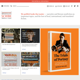 Home - Scribe Publications