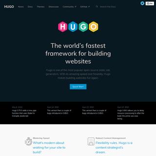 The world's fastest framework for building websites - Hugo