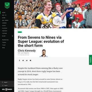 NRL 2020- evolution of the NRL Nines - NRL
