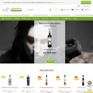Absinthe online kaufen und zuhause trinken - - absinthe.de