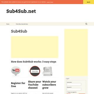 Sub4Sub - Sub4Sub.net