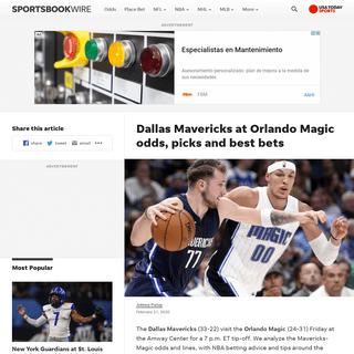 ArchiveBay.com - sportsbookwire.usatoday.com/2020/02/21/dallas-mavericks-at-orlando-magic-odds-picks-and-best-bets/ - Dallas Mavericks at Orlando Magic odds, picks and best bets