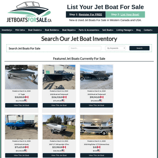 New & Used Jet Boats For Sale in BC - AB - WA - ID – Jet Boats For Sale
