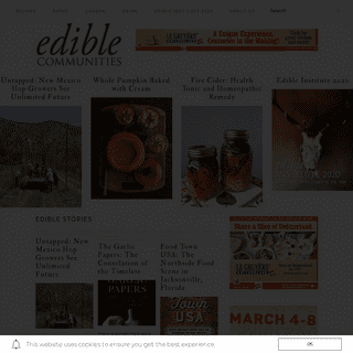 Edible Communities - Building community one dish, one recipe, one story at a time.