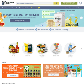 FoodServiceDirect.com – Widest Variety in Food Service!