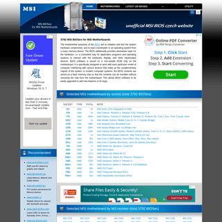 MSI BIOSes for MSI Motherboards