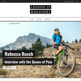 Lessons In Badassery - Badass women in sport, fitness and adventure