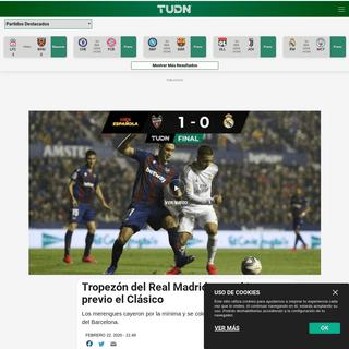 Tropezón del Real Madrid ante el Levante previo el Clásico - Liga Española - TUDN