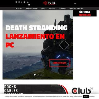 Noticias sobre gaming, videojuegos y hardware - PureGaming
