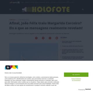 Afinal, João Félix traiu Margarida Corceiro- Eis o que as mensagens realmente revelam! - Holofote