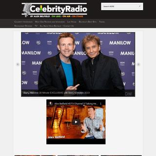 Celebrity Radio By Alex Belfield - Exclusive Celebrity Interviews and Travel & Theatre Reviews