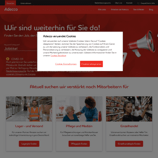 ArchiveBay.com - adecco.de - Adecco Personaldienstleistungen - Jetzt mit neuen Jobs