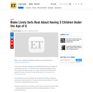 ArchiveBay.com - www.etonline.com/blake-lively-gets-real-about-having-3-children-under-the-age-of-6-140456 - Blake Lively Gets Real About Having 3 Children Under the Age of 6 - Entertainment Tonight