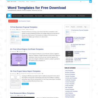 Word Templates - Collection of Free Microsoft Word Templates