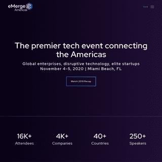 eMerge Americas - The Premier Tech Event in Miami