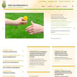 Startseite - Freie Heilpraktiker e. V. Berufs- und Fachverband