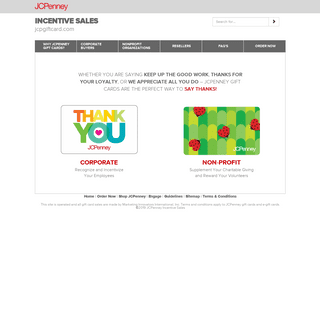 JCPenney Incentive Sales Home Page - JCPenney Gift CardJCPenney Gift Card