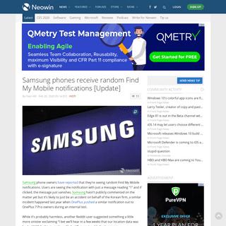 Samsung phones receive random Find My Mobile notifications [Update] - Neowin