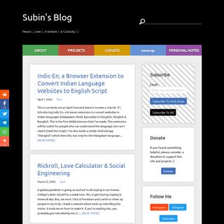 Subin's Blog