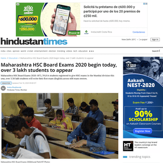 ArchiveBay.com - www.hindustantimes.com/education/maharashtra-hsc-board-exams-2020-begin-today-over-3-lakh-students-to-appear/story-UxSFAq0RIggMBVuiTPzsYN.html - Maharashtra HSC Board Exams 2020 begin today, over 3 lakh students to appear - education - Hindustan Times