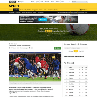 ArchiveBay.com - www.bbc.co.uk/sport/football/51439302 - Chelsea 0-2 Man Utd- Martial and Maguire score for visitors - BBC Sport