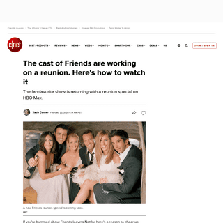 The cast of Friends are working on a reunion. Here's how to watch it - CNET