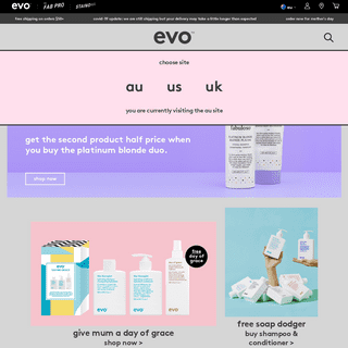 ArchiveBay.com - evohair.com - Haircare & Beauty Products - Shampoo & Conditioner - evo hair
