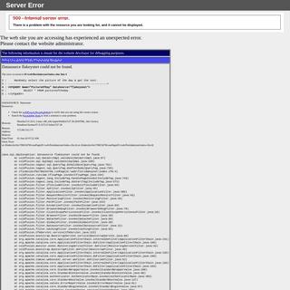 500 - Internal server error.