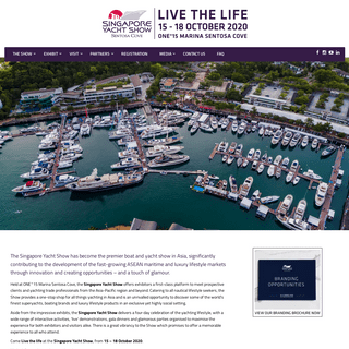 Singapore Yacht Show – Live the Life