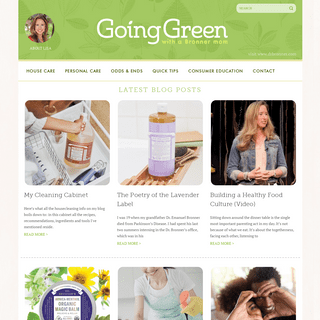 Going Green with a Bronner Mom - by Lisa Bronner