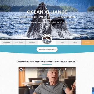 Ocean Alliance Whale Conservation - Ocean Alliance