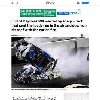 ArchiveBay.com - www.businessinsider.com/daytona-500-wreck-ryan-newman-2020-2 - VIDEO- End of Daytona 500 marred by Ryan Newman's scary wreck - Business Insider