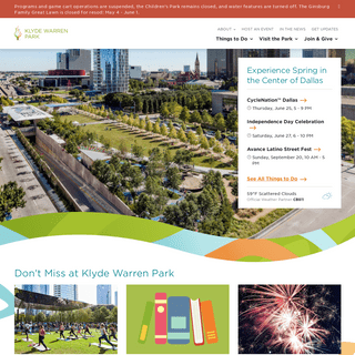 Klyde Warren Park - Klyde Warren Park - Dallas Texas