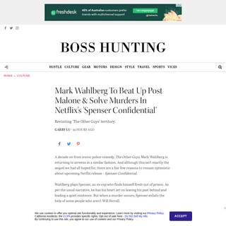 Mark Wahlberg & Post Malone Star In Netflix's 'Spenser Confidential' - Boss Hunting