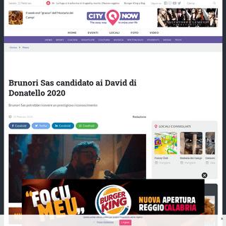 ArchiveBay.com - www.citynow.it/brunori-sas-nomina-david-donatello-2020/ - Brunori Sas candidato ai David di Donatello 2020