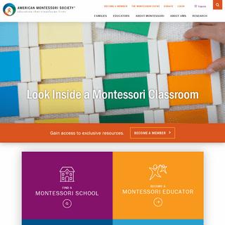 Montessori Resources for Schools, Teachers, Families and Parents - American Montessori Society