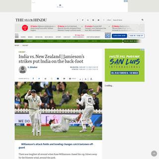 ArchiveBay.com - www.thehindu.com/sport/cricket/india-vs-new-zealand-jamiesons-strikes-put-india-on-the-back-foot/article30882935.ece - India vs. New Zealand - Jamieson's strikes put India on the back-foot - The Hindu