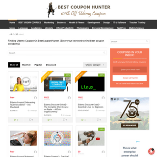 #1 100- Off Udemy Coupons Code【FREE】Bestcouponhunter.com