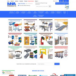 Manual Handling Equipment & Shelving - MHA Products Australia's Leading Materials Handling Supplier