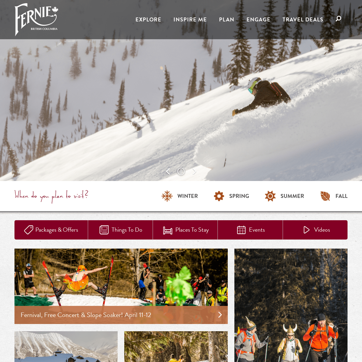 Official community travel website for Fernie, British Columbia, Canada