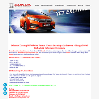 PROMO HONDA SURABAYA JATIM - Honda Brio surabaya, Honda Mobilio surabaya, Honda Jazz surabaya, Honda reed surabaya, Honda CRV CR