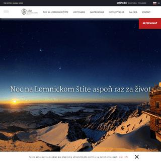 Noc na Lomnickom štíte - TMR Hotels - Domov